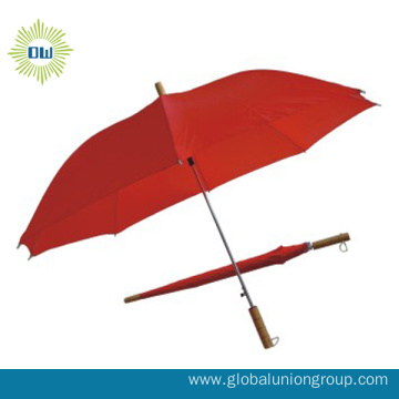 "21"" Semiautomatic Red Straight Umbrella"